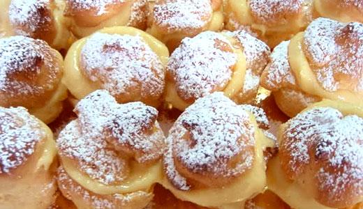 Bignè ripieni di Budino alla Crema Vaniglia
